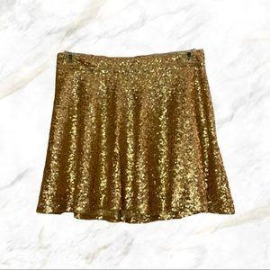 4/$30 🌿 Bethany Mota | Rose Gold Sequin Skirt